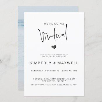 elegant virtual photo online wedding invitation