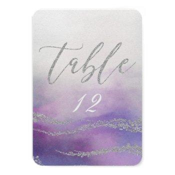 elegant watercolor in orchid wedding table number
