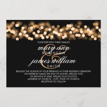 elegant wedding gold hollywood glam invitation