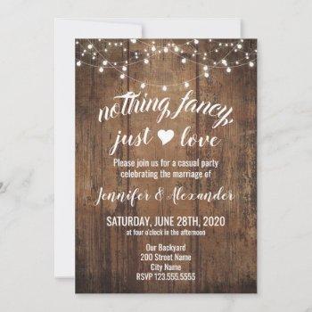 elopement wedding invitation