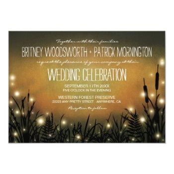 enchanted forest firefly wedding invitations