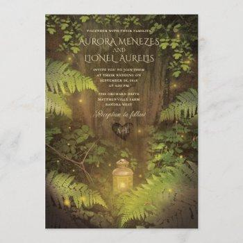 enchanted forest secret garden dream wedding card