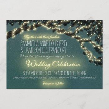 enchanted tree branch rustic wedding invitations