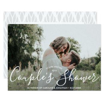 engaged couple's shower invitation modern photo