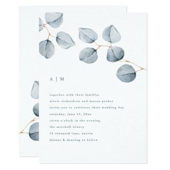 eucalyptus simplicity | wedding invitation