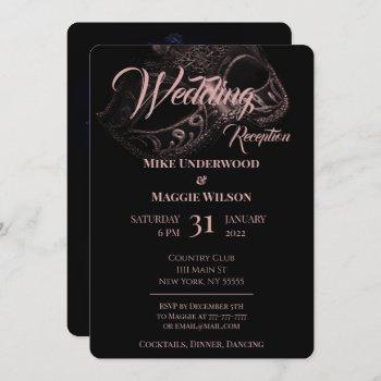 evening wedding party invitation