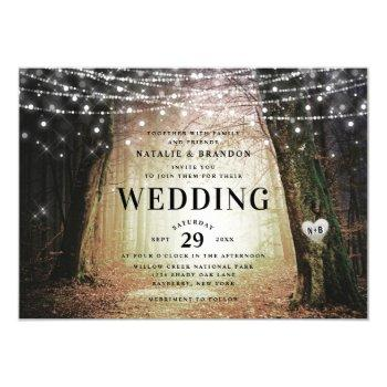 evermore | enchanted fairy forest | amber wedding invitation