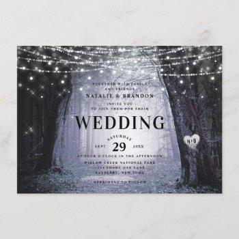 evermore | enchanted fairy forest | purple wedding invitation