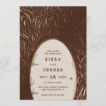 fairy door irish folklore fairytale tree wedding invitation