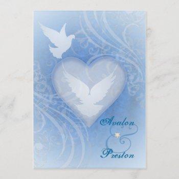 fairy tale flourish blue princess invitations