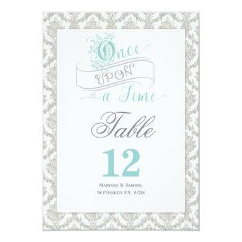 fairytale once upon a time 2 sided table card