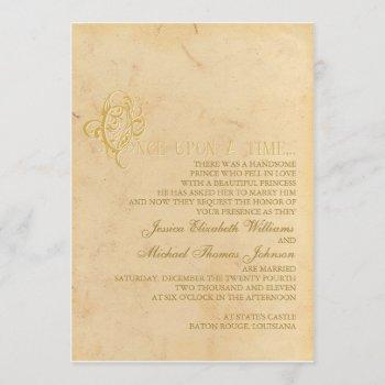 fairytale wedding invitation