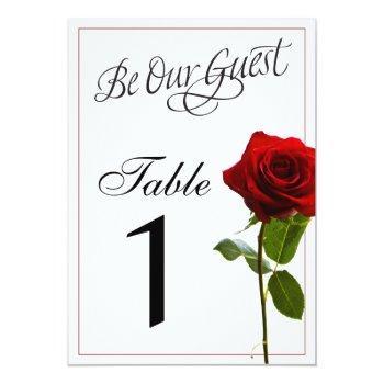 fairytale wedding table numbers