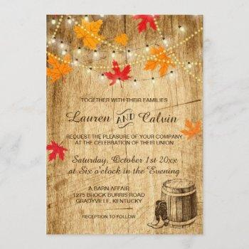 fall wedding invitation for a country wedding