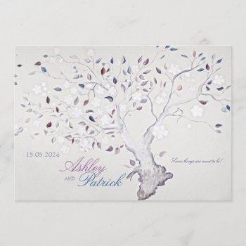 fantasy tree wedding invitation