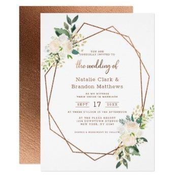 farmhouse fresh rustic country terrarium wedding invitation