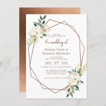 farmhouse fresh rustic country terrarium wedding invitation