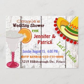 festive mexican fiesta couple's wedding shower invitation