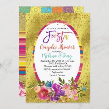 fiesta couple shower invitation floral