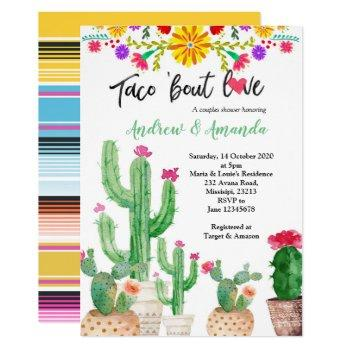 fiesta couples wedding shower invitation