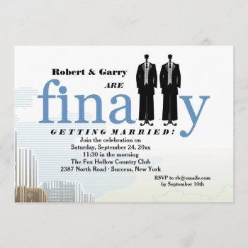 finally two tuxedos wedding invitation