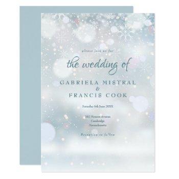 first snowflakes wedding invitation