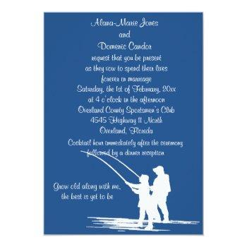 Small Fishing Couple Wedding Invitations : Customize Front View