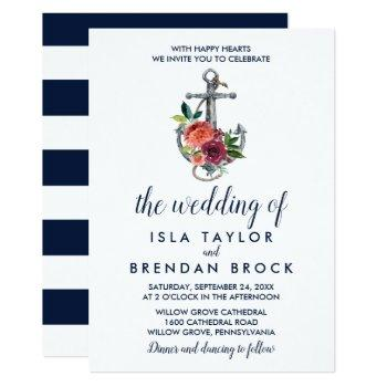 floral anchor | autumn the wedding of invitation