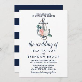 floral anchor | summer the wedding of invitation