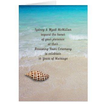 folded beach ceremony invitation card