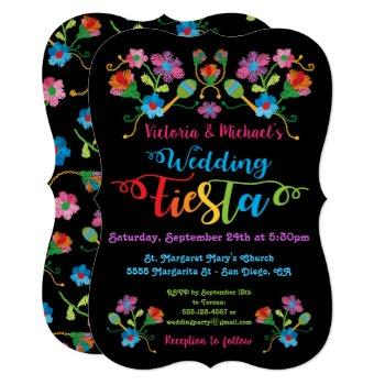 folk art mexican fiesta wedding invitation