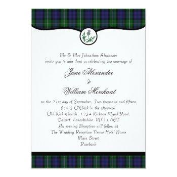 forbes clan tartan plaid & thistle wedding invites