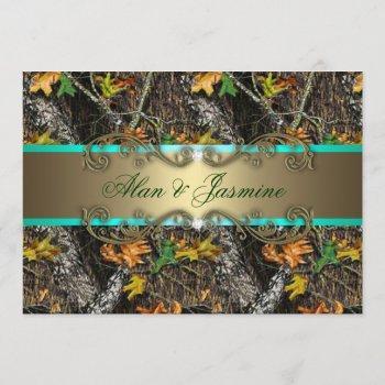 formal camo wedding invitations 5x7