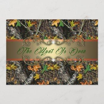 formal - the hunt is over - wedding invitations