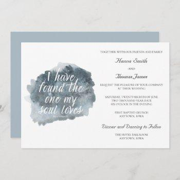 found the one my soul loves bible verse wedding in invitation