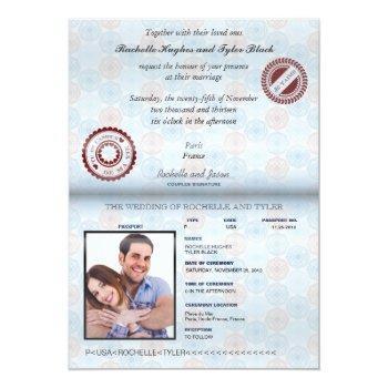 france passport (rendered) wedding invitation ii