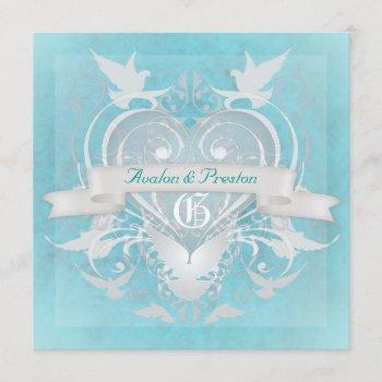 frosted princess fairy tale teal invitation