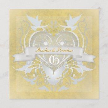 frosted princess fairy tale yellow invitation