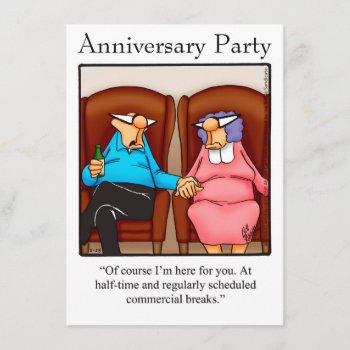 """funny anniversary party invitation """"spectickles"""""""