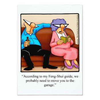 """funny """"feng-shui"""" anniversary party invitations"""