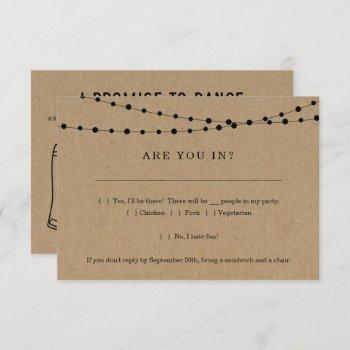 funny invitation rsvp card insert w- song request