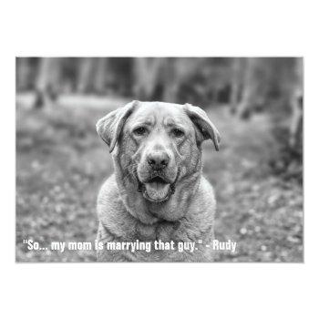 funny pet save the date engagement announcement
