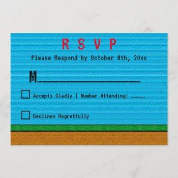 gaming level up wedding rsvp cards