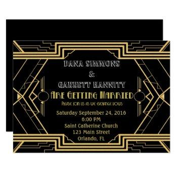 gatsby gold party wedding suite ceremony party invitation