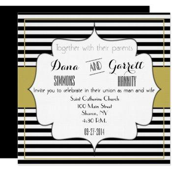 gatsby gold wedding suite announcement ceremony