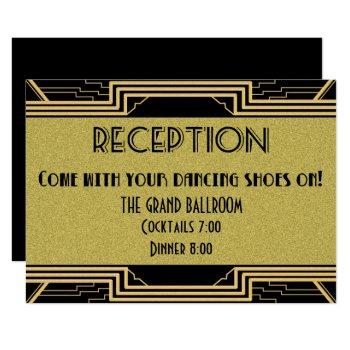 gatsby gold wedding suite details reception party invitation