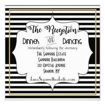 gatsby gold wedding suite reception details insert invitation