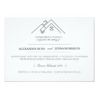 geometric mountain | modern customizable invitation