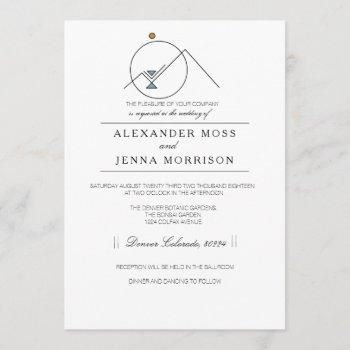 geometric tribal mountain | modern customizable invitation
