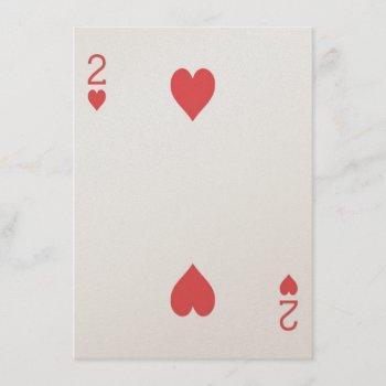 gold 2 of hearts playing card las vegas wedding
